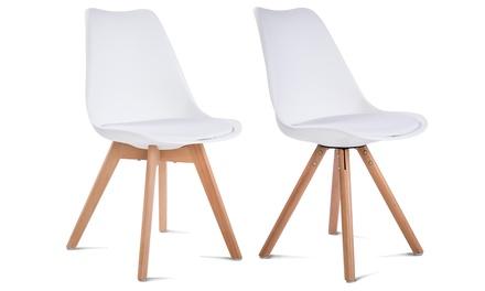 Set di 4 sedie stile scandinavo da interni disponibili in 2 modelli