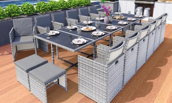 salon de jardin encastrable en resine de 5 9 11 13 15 ou 17 pieces