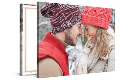 Una stampa personalizzata su tela disponibile in vari formati con Photo Gifts (sconto fino a 87%)