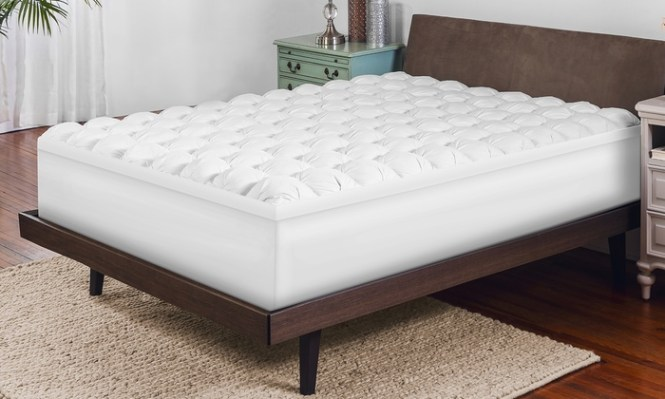 Gel Infused Memory Foam And Alternative Down Mattress Topper