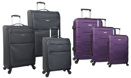 Set di 3 trolley in ABS o nylon disponibili in vari modelli e colori