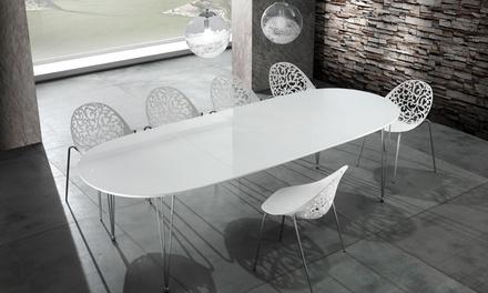Tavolo ovale allungabile Elegant con gambe in acciaio inox   Palermo