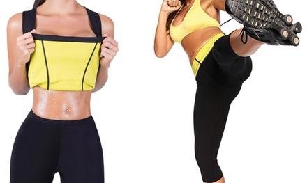 Canottiera e pantalone fitness modellante in neoprene disponibile in 5 misure