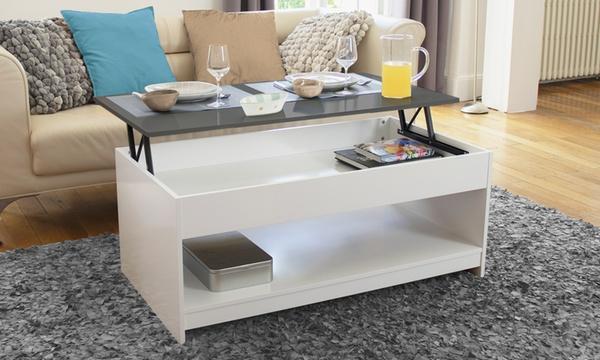 table basse avec plateau relevable petit ou grand modele