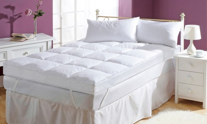 Groupon Goods Global Gmbh Starry Night Five Inch Hollow Fibre Mattress Toppers With Free