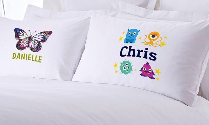 Kids Custom Pillow Cases  Monogram Online  Groupon