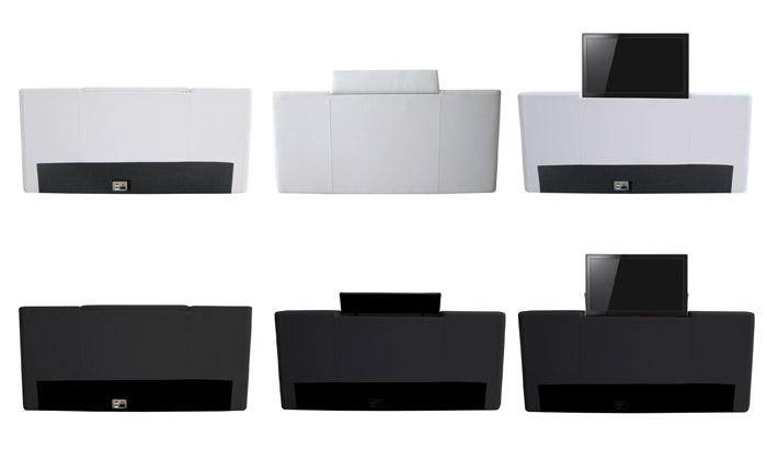 lit tv palace avec ou sans matelas memoire de forme ou console tv palace des 499 90 livraison offerte jusqu a 77