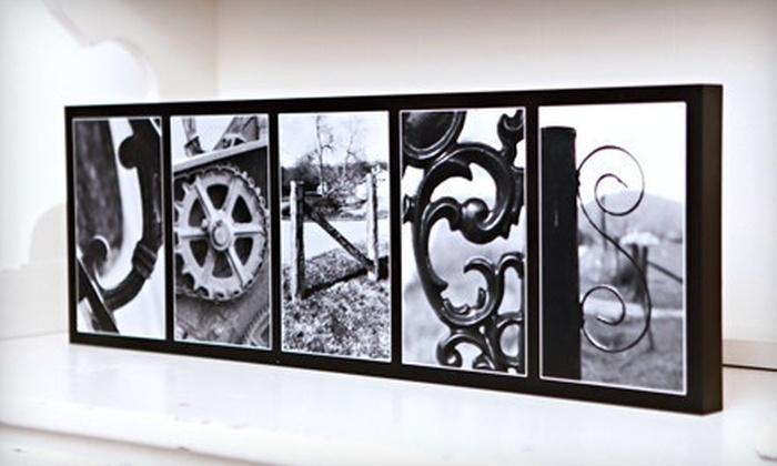 custom framed letter art