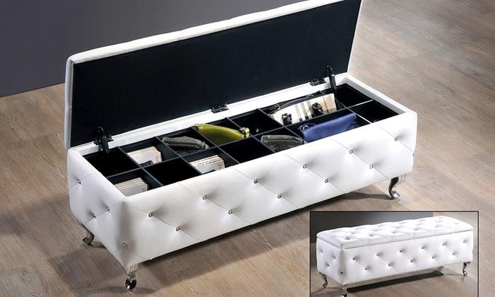 Modern Storage Bench Groupon Goods