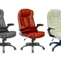 Desk Chair Groupon Leather Counter Chairs Reclining Office Uk With Footrest Executive Goods
