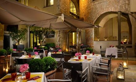 Menu toscano Gourmet con vino in antica torre bizantina, vicino Duomo, allOsteria della Pagliazza (sconto fino a 67%)