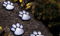 Ideaworks Solar-Powered Paw Print Lights | Groupon