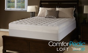 "image for ComforPedic Loft 4.5"" Quilted Memory Foam Mattress Topper"