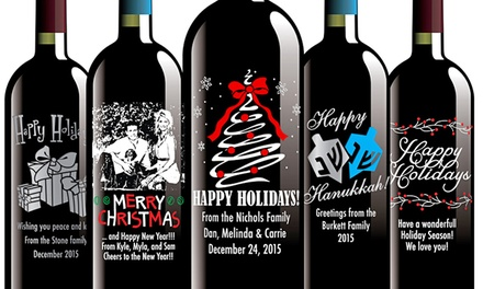 CustomEtched Wine Bottles  Etching Expressions  Groupon