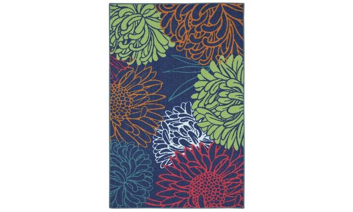 Bright Garden Printed Rug