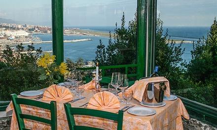 Menu di pesce 4 portate e vino con vista panoramica al Ristorante La Vetta (sconto fino a 52%)