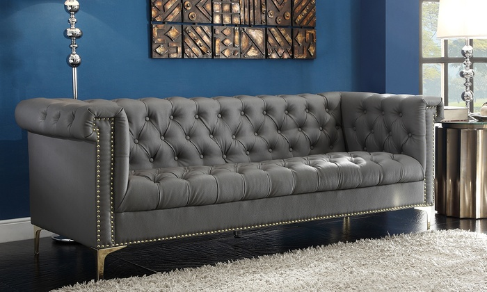 west elm leather sofa reviews black in small living room modern tufted mid century the dump ...