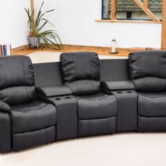 Valencia Black Recliner Leather Sofa Burgundy Cinema | Groupon Goods