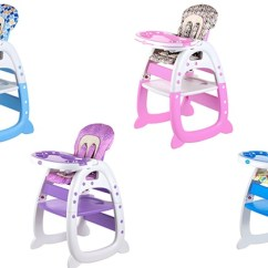 Padded High Chair Camping With Side Table Baby Highchair Desk 2 In 1 Groupon Goods