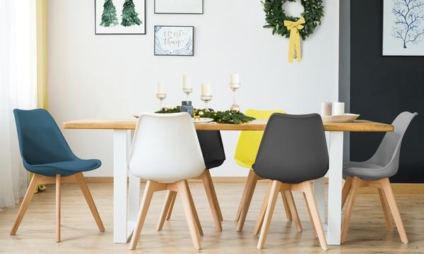 lot de 2 4 ou 6 chaises scandinaves suedia