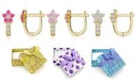 Kids' Flower Earrings with Swarovski Elements | Groupon