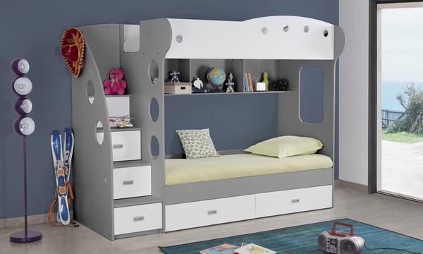 lit combine deux couchages avec ou sans matelas livraison offerte