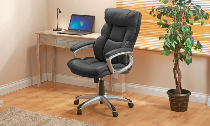 desk chair groupon sleeper recliner chairs up to 54 off executive style office