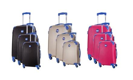Set 3 trolley Bagstone disponibili in 4 colori