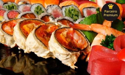 Rodízio japonês com frutos do mar e sobremesa para 1 ou 2 pessoas no Saji Sushi – Bosque da Saúde