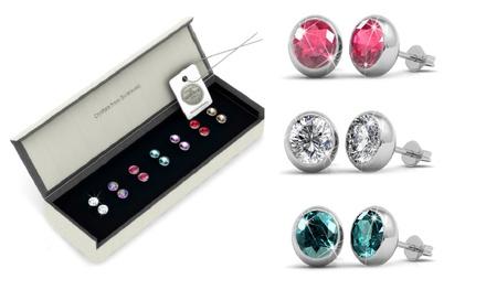 1 o 2 set di 7 paia di orecchini con cristalli Swarovski® in vari colori