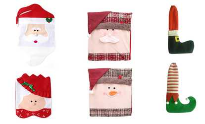 christmas chair back covers ireland foldable bed seasonal decorations deals coupons groupon shop cover