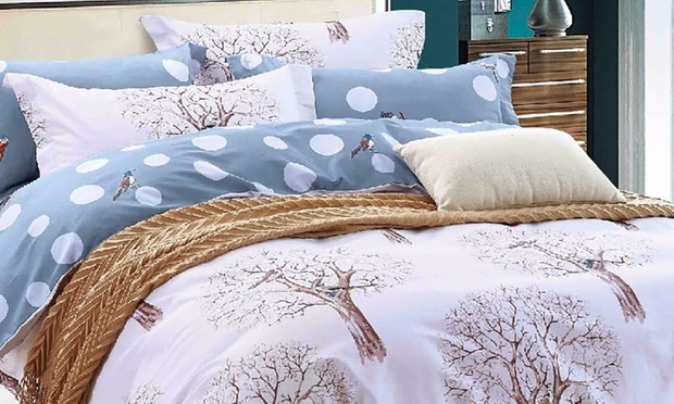100% Cotton Printed Quilt Cover Set: Single ($39), Double ($45), Queen ($49) or King Size ($55) (Dont Pay up to $129)