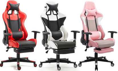 desk chair groupon 2 seater love armen living santiago office shop ergonomic high back gaming w lumbar support and footrest