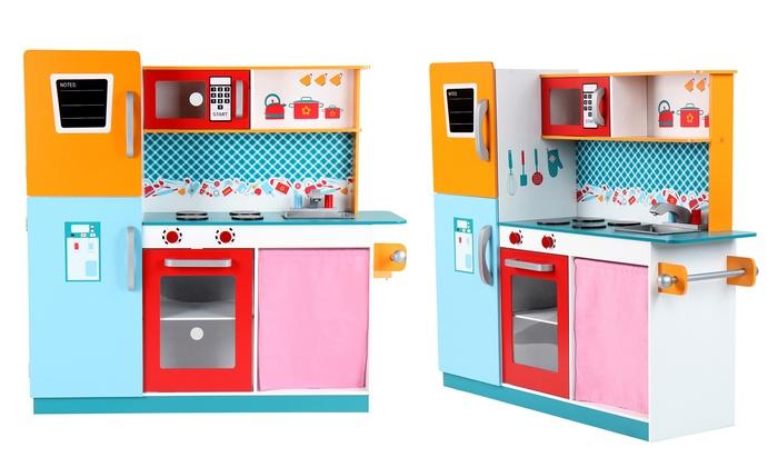 Cucina giocattolo in legno  Groupon