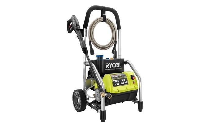 Ryobi Electric 1,700 PSI Pressure Washer with Attachments