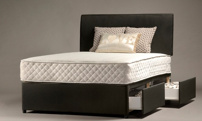 Groupon Goods Global Gmbh Divan Bed With Up To Four Drawers Mattress And Optional