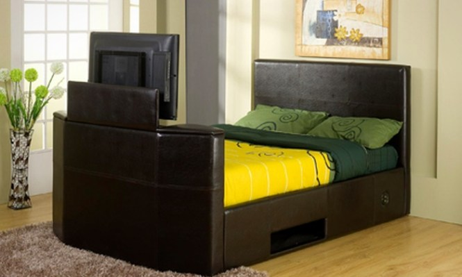 Groupon Goods Global Gmbh King Size Tv Bed Frame With Storage 399 95