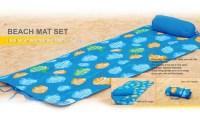 Roll Up Beach Mat with Pillow | Groupon Goods