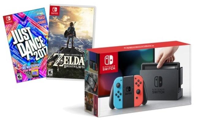Nintendo Switch With The Legend Of Zelda Just Dance 2017