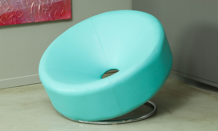 Nouvelle Bonded Leather Donut Chair  Groupon
