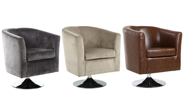 swivel tub chairs desk chair arms groupon