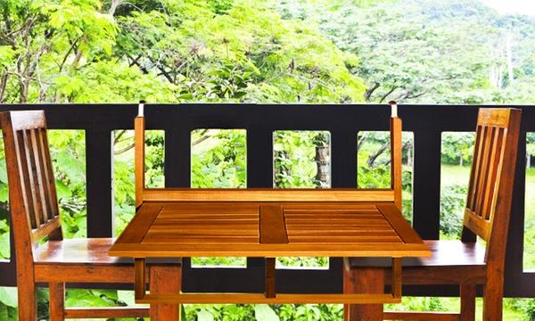 table de balcon en bois d acacia a 33 90 livraison offerte