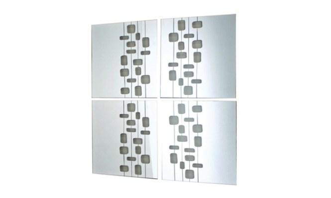 Lulu Decor Decorative Silver Metal Wall Mirror Ornamental Oval