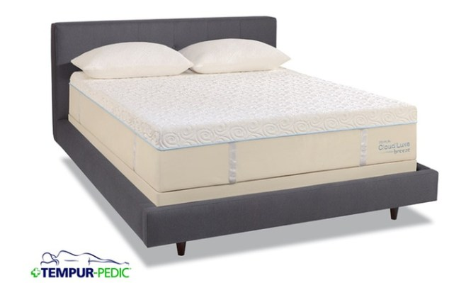 Tempur Pedic Cloud Luxe Breeze Mattress And Adjule Frame With Up To A 400 Gift