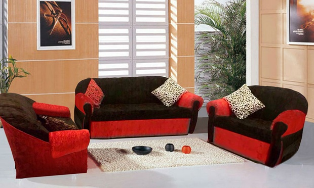 3 seater black leather sofa carlyle bed royal sectional set from 749 aed | groupon