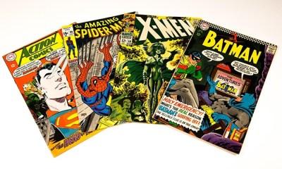 An image of comic books