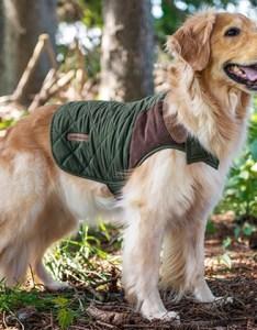 Eddie bauer quilted dog coat with suede shotgun patch also groupon rh