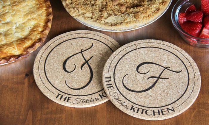 kitchen hot pads 2 handle faucet personalized american laser crafts groupon customer reviews