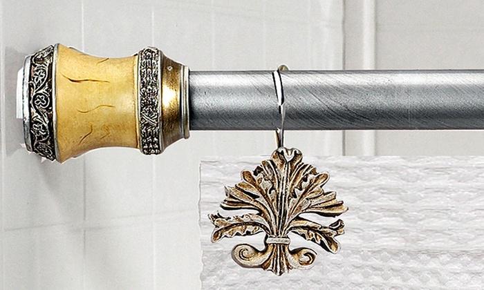 Shower Curtain Tension Rod Set Groupon Goods