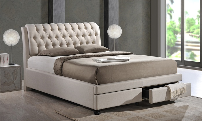 Morgana Upholstered Bed With Storage Groupon